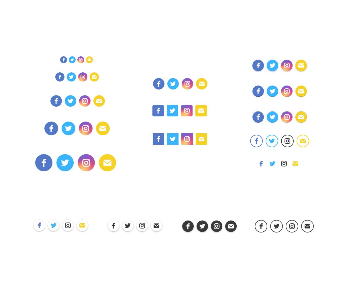 WordPress Social Media Icons – Social Icons Plugin