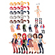 Dresses and Hairstyles Game - GraphicRiver Item for Sale