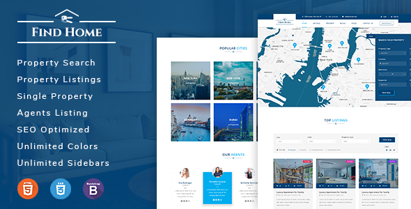 Findhome - Real Estate HTML Template