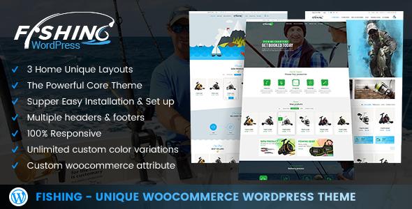 Image of Fishing - WordPress Theme For Fishing Store