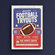 Football Tryouts Flyer - GraphicRiver Item for Sale