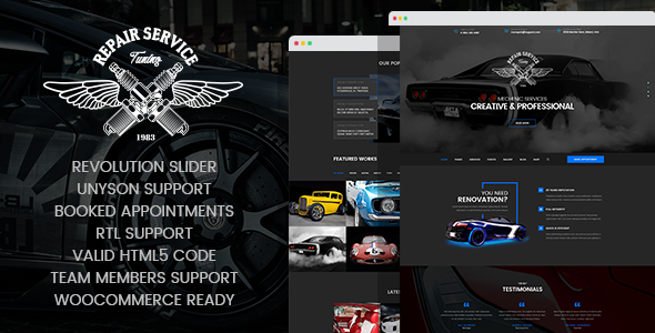 Image of CarRepair - Auto-Tuning WordPress theme
