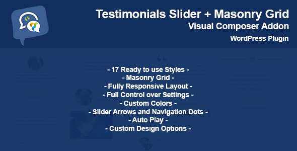 Testimonials Slider + Masonry Grid - Addon WPBakery Page Builder (formerly Visual Composer) - CodeCanyon Item for Sale