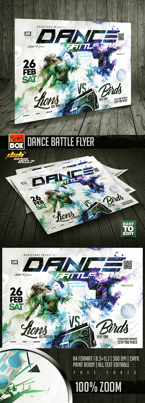 GraphicRiver Dance Battle Flyer 20612742