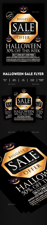 Halloween Sale Flyer Poster - Events Flyers