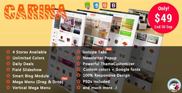 Carina - Furniture Responsive Prestashop Theme - Shopping PrestaShop