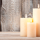 Candles on wooden background - PhotoDune Item for Sale