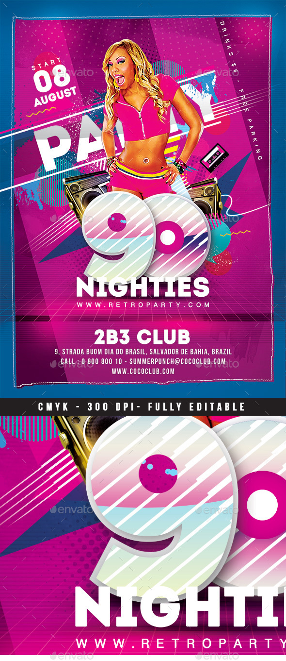 90's Party - Clubs & Parties Events