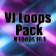 Glitch Wave Vj Loop Pack 8 In 1