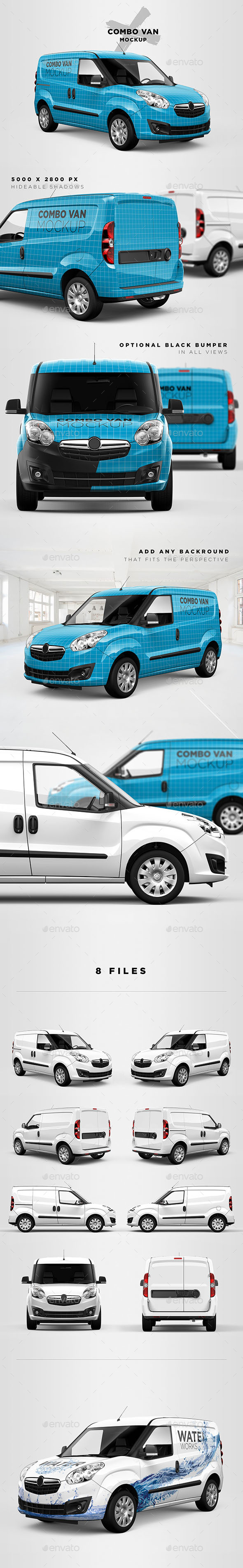 Combo Panel Van Mockup - Vehicle Wraps Print