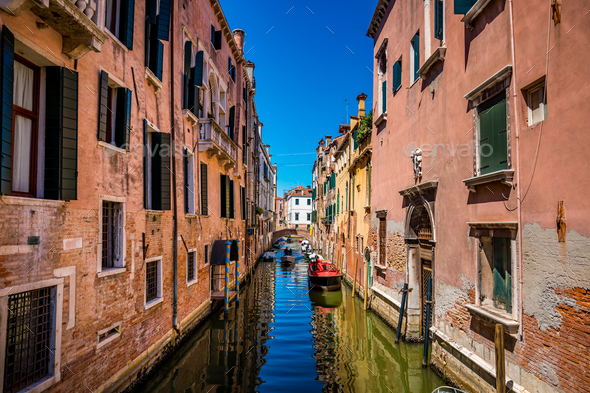 Venice a bright Sunny day - Stock Photo - Images