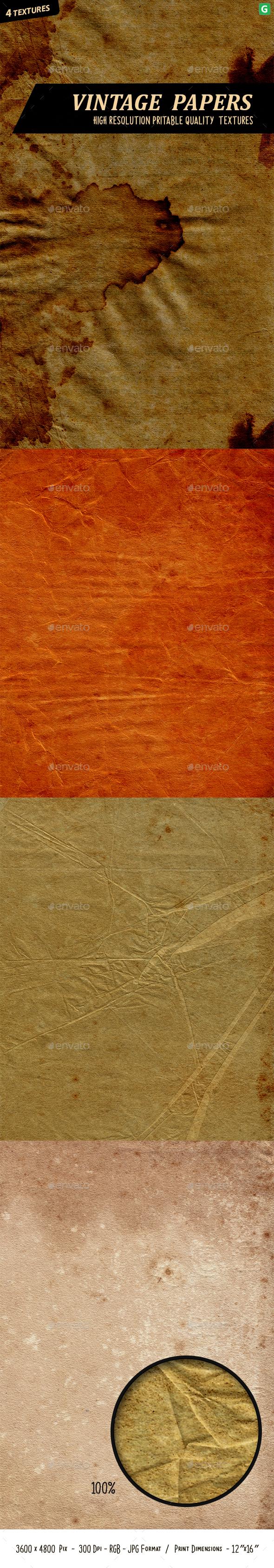 Vintage Paper Texture Pack - Paper Textures