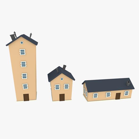 3DOcean LowPoly Houses Pack 02 3D 20613942