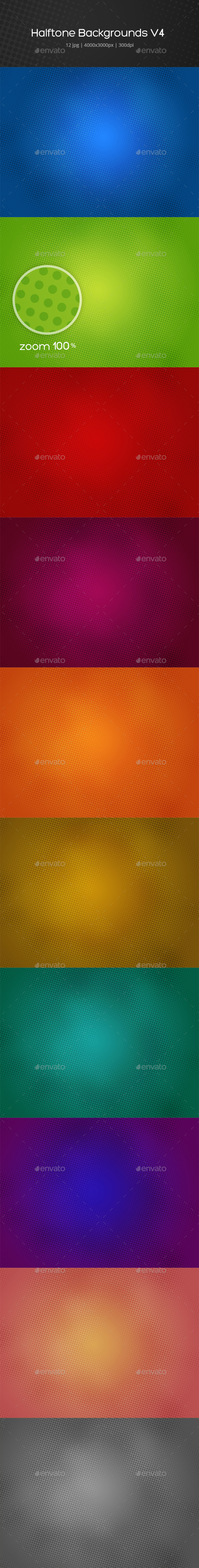 GraphicRiver Halftone Backgrounds v4 20613943