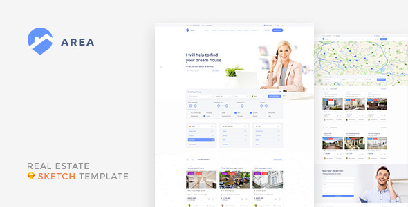 ThemeForest Area Real Estate Agency and Realtor Sketch Template 20613962