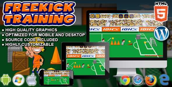CodeCanyon Freekick Training HTML5 Sport Game 20614011