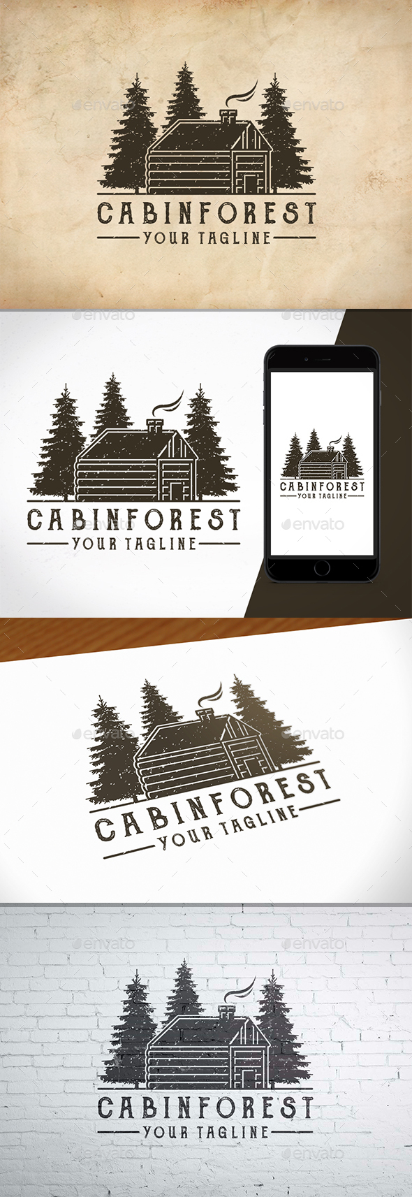 Cabin Forest Logo Template - Nature Logo Templates