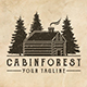 Cabin Forest Logo Template