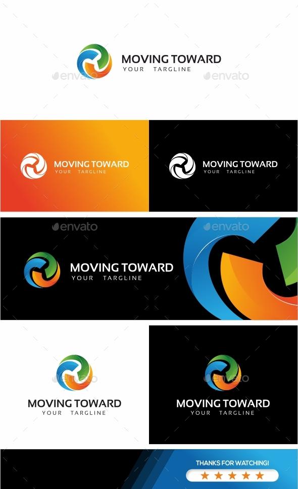 GraphicRiver Moving Toward Logo 20607768