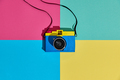 Fashion Film Camera. Hot Summer Vibes. Pop Art