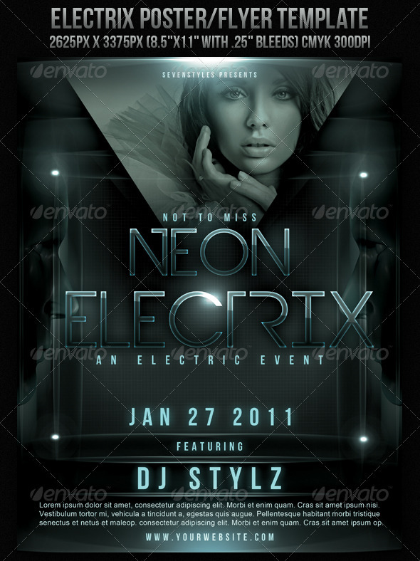 Electrix Poster/Flyer Template - Clubs & Parties Events