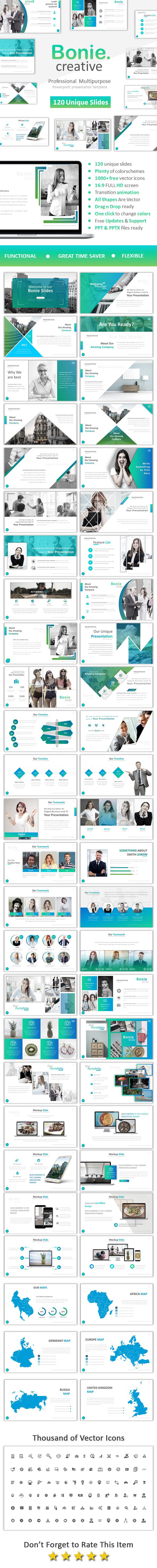 Bonie Creative Powerpoint - Business PowerPoint Templates
