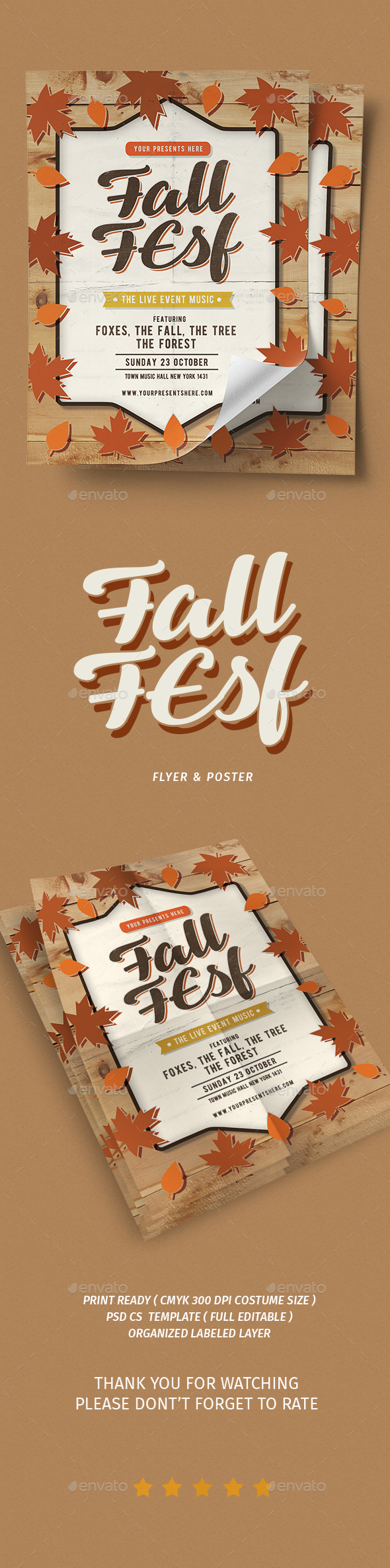 Fall Festival Vol.3 - Events Flyers