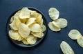 Potato chips in the bowl