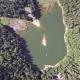 Aerial View of Lake Synevir in Carpathian Mountains in Ukraine