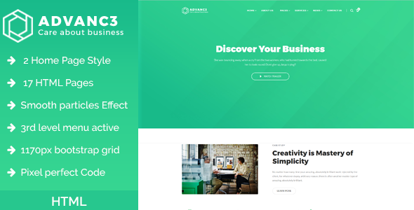 Advance - Business, Training & Consulting HTML Template