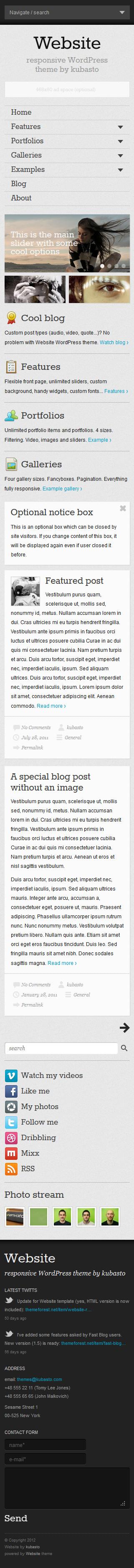 Website - Responsive WordPress Theme by WebberWebber   ThemeForest