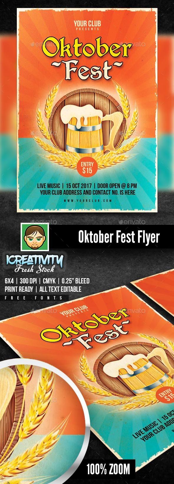 Oktober Fest - Flyers Print Templates