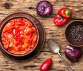 lecso classic dish of Hungarian cuisine