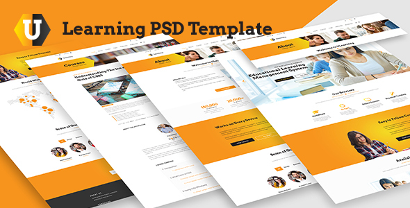 U Learning PSD Template