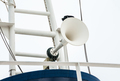 Megaphone on the roof of the ship