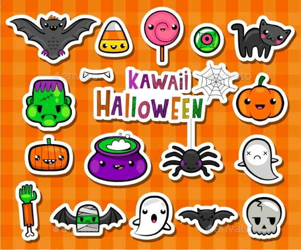 Kawaii Halloween Illustrations