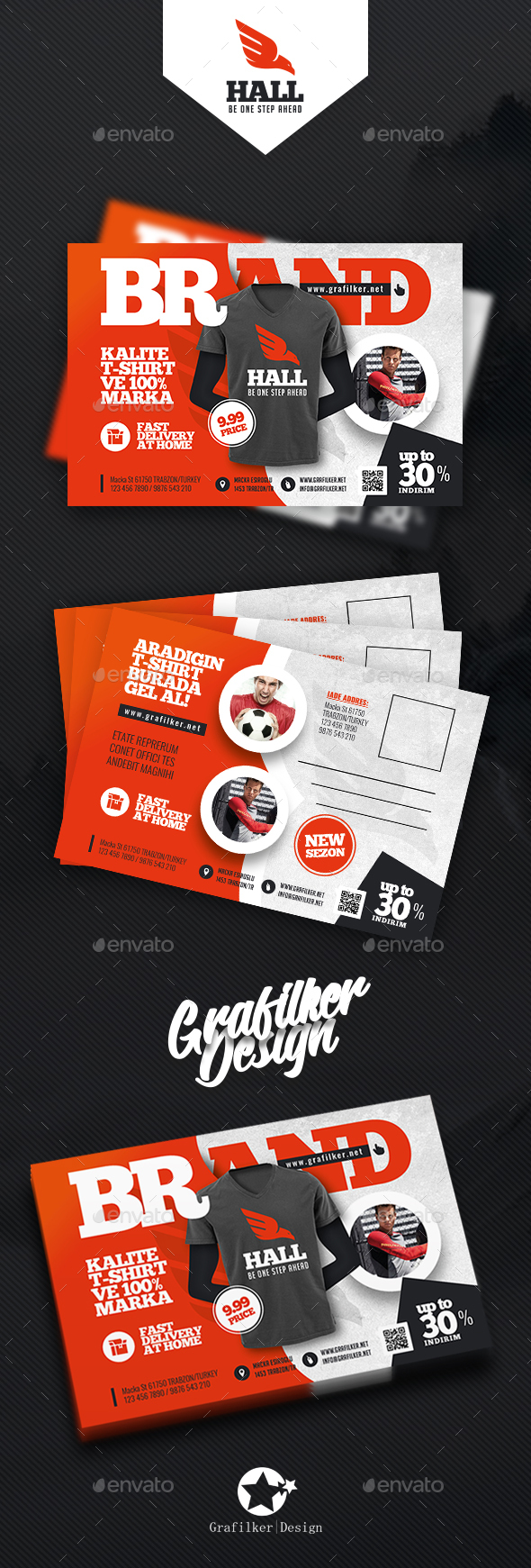 T-Shirt Postcard Templates - Cards & Invites Print Templates