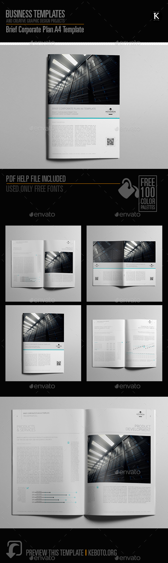 Brief Corporate Plan A4 Template - Miscellaneous Print Templates