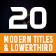 20 Modern Titles and Lowerthird - VideoHive Item for Sale
