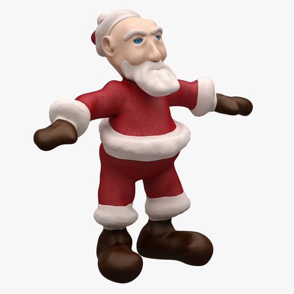 3DOcean Santa LOWPOLY TOPOLOGY NOT RIGGED 20616030
