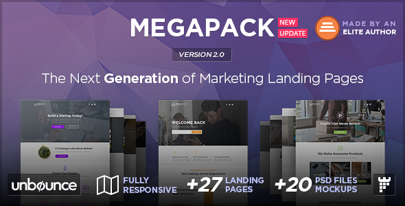 MEGAPACK - Multipurpose Unbounce Landing Pages Pack - Unbounce Landing Pages Marketing