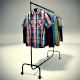 Clothing Rack with 18 shirts - 3DOcean Item for Sale