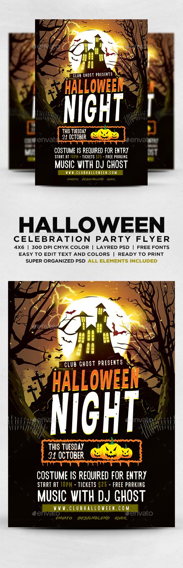 GraphicRiver Halloween Night Flyer 20616211