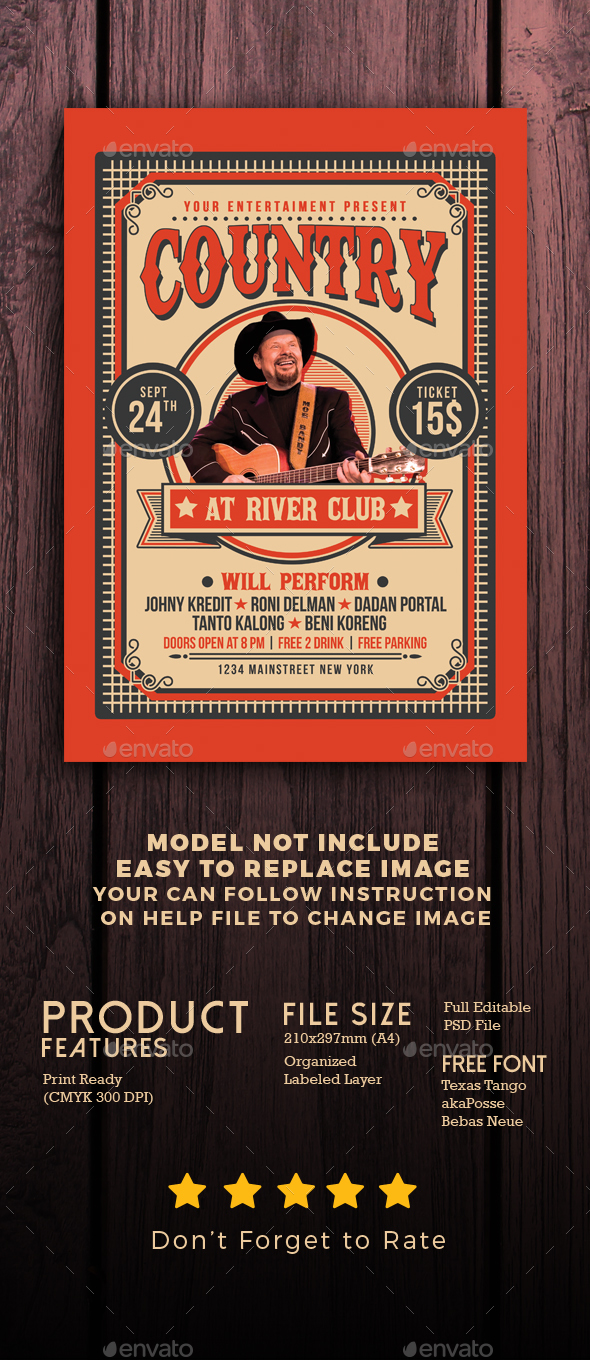 GraphicRiver Country Music Flyer 20616318