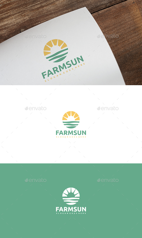 Farm Sun Logo - Nature Logo Templates