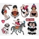 Set of Vintage Circus Stickers