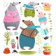 Bear Cartoon Family - GraphicRiver Item for Sale