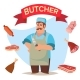 Professional Butcher Vector