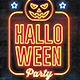 Halloween Party Neon Flyer - GraphicRiver Item for Sale
