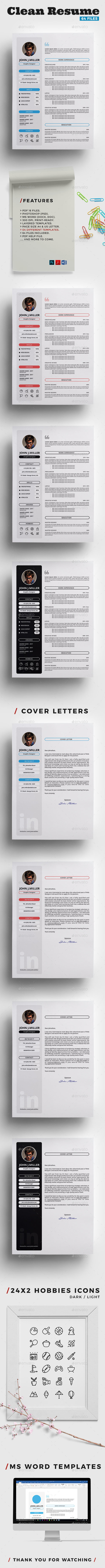 GraphicRiver Clean Resume 20616593